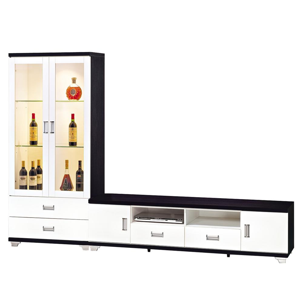 ROSA羅莎 辛西亞黑白雙色8.4尺L櫃