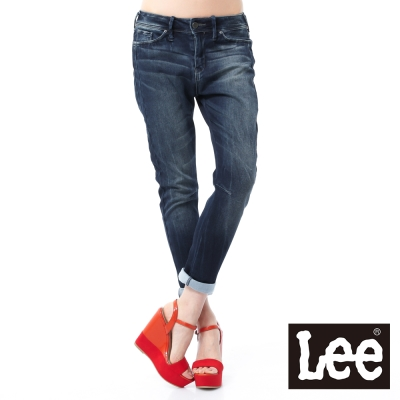 Lee 牛仔褲 405 中腰標準窄管 -女款(大里石藍)