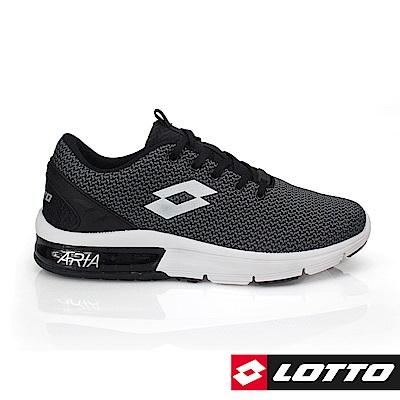 LOTTO 義大利 男 ARIA CHINO氣墊跑鞋(黑)
