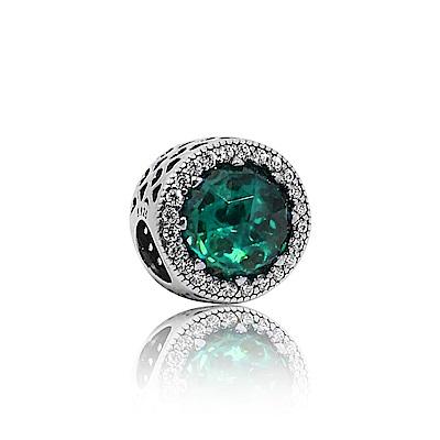Pandora 潘朵拉 魅力鑲鋯綠寶石 純銀墜飾 串珠