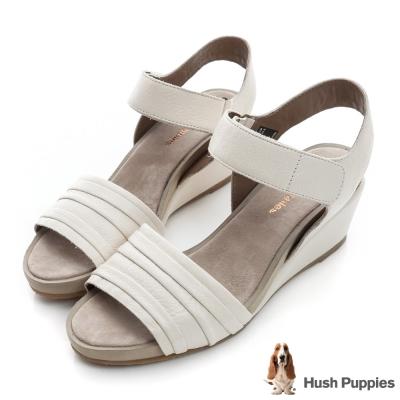 Hush Puppies ELVEE 超彈力械形涼鞋-米白