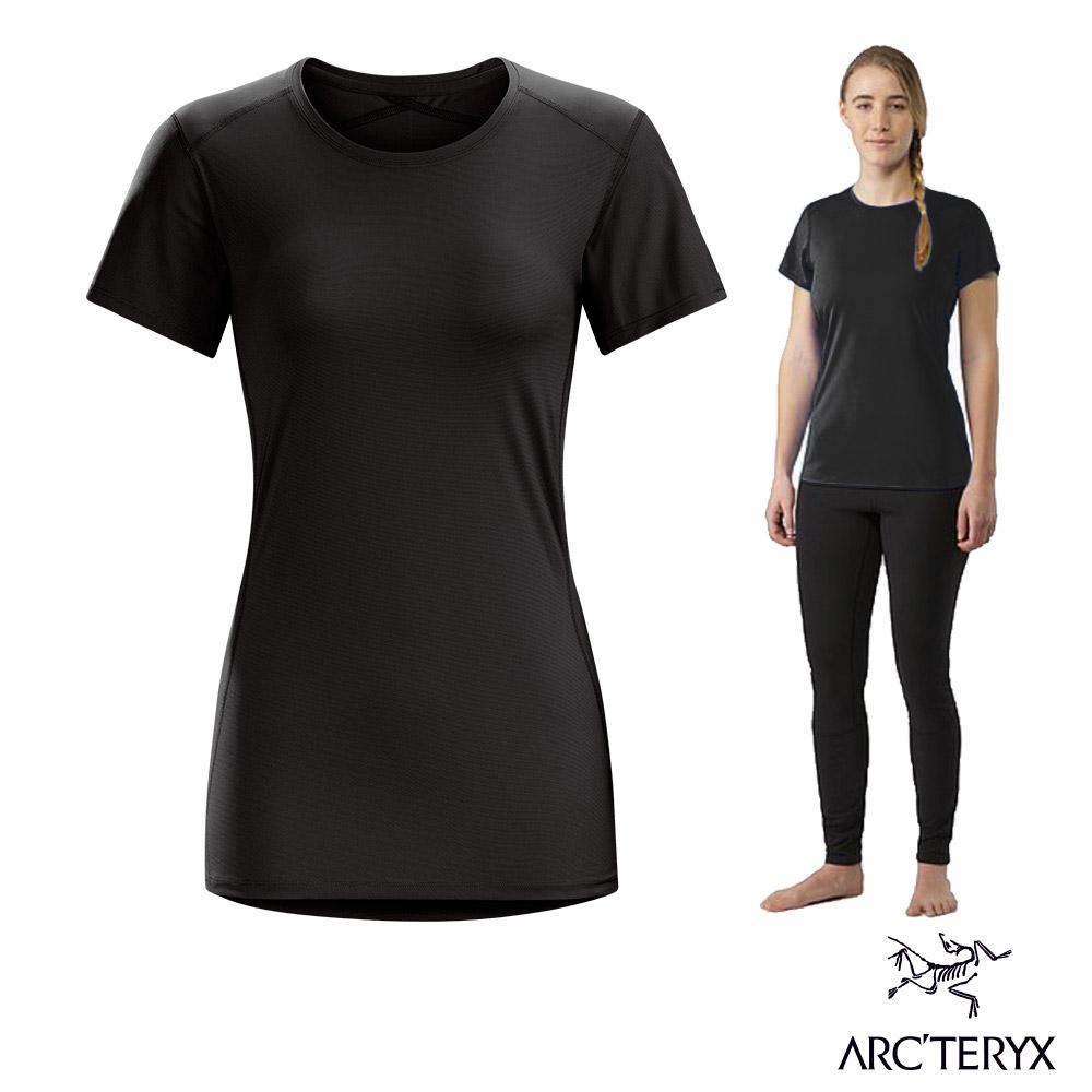 Arcteryx 始祖鳥 女 Phase SL 輕量 短袖排汗衣 黑