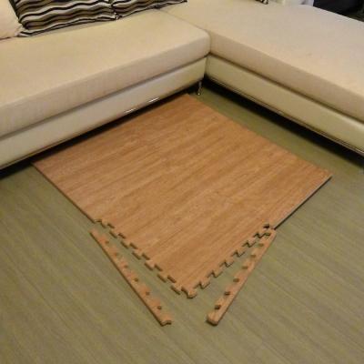 【新生活家】EVA耐磨櫸木紋附收邊45x45x1.2cm4P淺色
