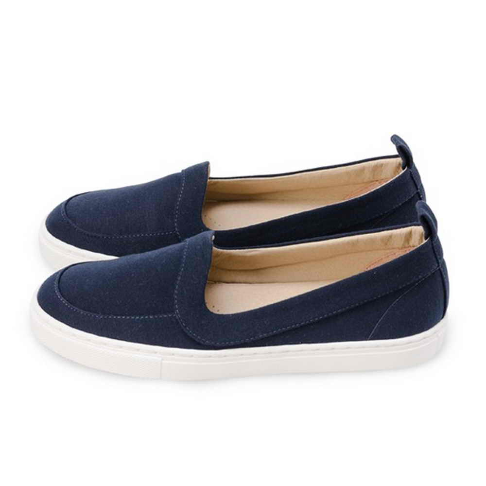 FUFA  MIT 舒適休閒懶人鞋 (FO02) 深藍色
