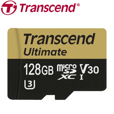 創見 128GB Ultimate microSDXC UHS-I (U3) 記憶卡