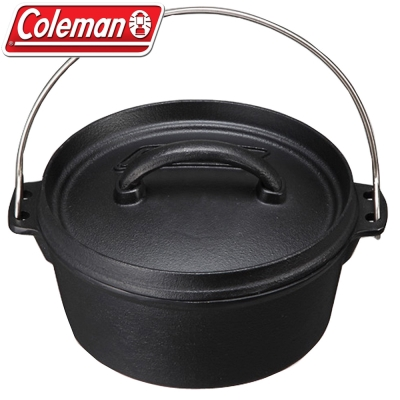 Coleman CM-9393 8吋 SF荷蘭鍋/鑄鐵燉煮鍋 可當煎炒鍋/深型牛排煎鍋