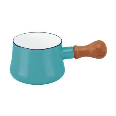 DANSK-迷你造型琺瑯鍋-藍綠色