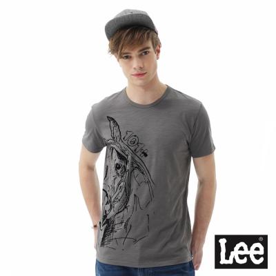Lee動物印刷短袖T恤/101+-男款-灰色