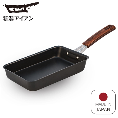 日本新瀉鐵器 鍛鐵玉子燒平煎鍋/煎蛋鍋 18cm
