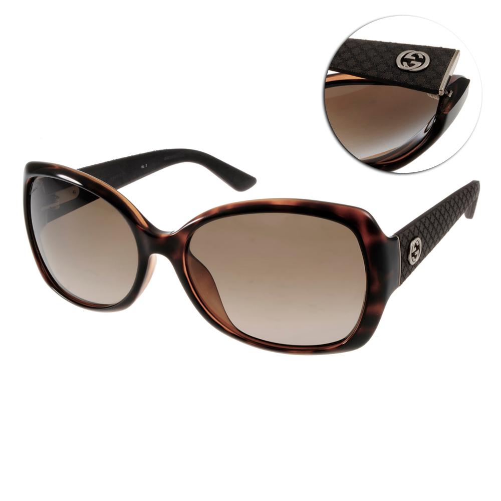 GUCCI太陽眼鏡 經典LOGO系列/深邃琥珀#GG3729FS INIHA