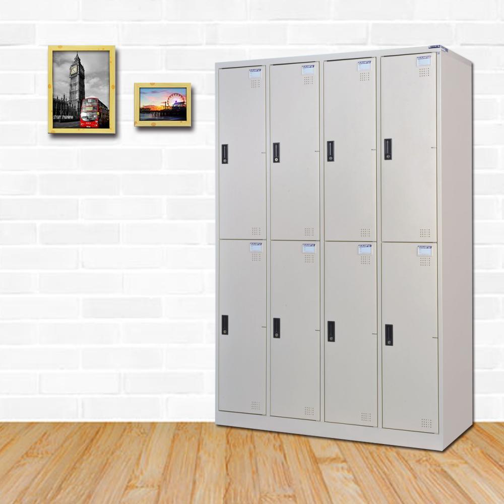 時尚屋 維克扥多用途塑鋼製8格置物櫃 寬119x深51x高180cm