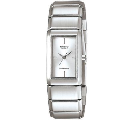 CASIO 清新時尚酒桶型指針腕錶(LTP-2037A-7C)白色丁字面/22mm