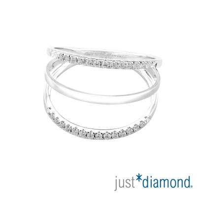 Just Diamond 18K金鑽石戒指-愛‧轉動