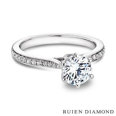 RUIEN DIAMOND GIA50分 DVS1 3EX18K白金 鑽石戒指