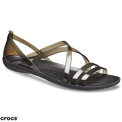 Crocs 卡駱馳 (女鞋) 伊莎貝拉繫帶涼鞋 204915-001