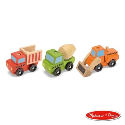 美國瑪莉莎 Melissa & Doug 木製交通工具 - 疊疊樂 工程積木組合車