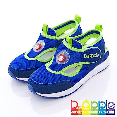 【Dr. Apple 機能童鞋】雙色拼接輕量透氣童鞋 藍