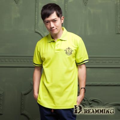 Dreamming 美式刺繡液鈦涼感紗短POLO衫-果綠