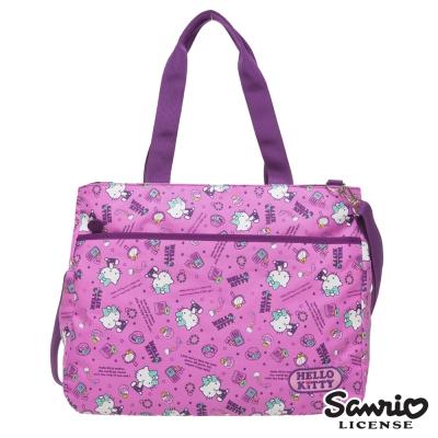 Hello Kitty 休閒潮流托特包-紫KT88B03PL