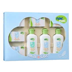 寶貝可愛 Nac Nac 牛奶燕麥護膚禮盒八件組/附提袋