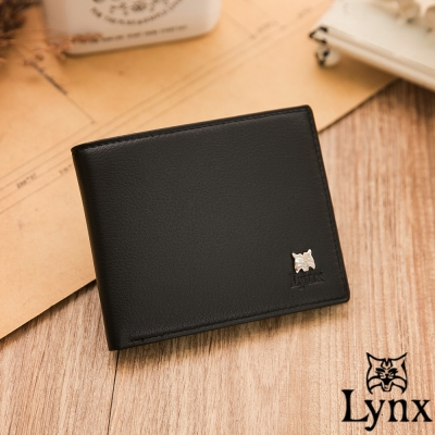 Lynx - 山貓極品爵士軟式牛皮4卡零錢包短夾