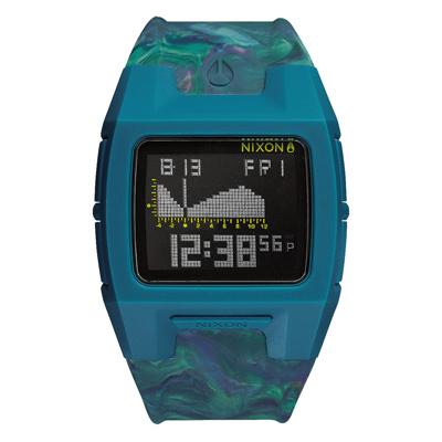 NIXON LODOWN SILICONE 迷幻漩渦海潮休閒腕錶-迷幻藍/39mmX31m
