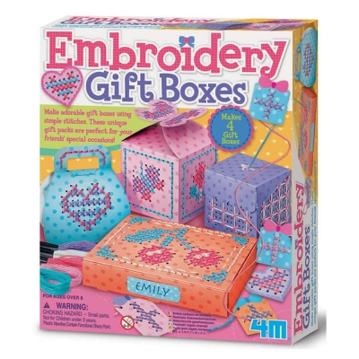 4M美勞創作 - 刺繡禮物盒