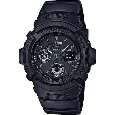 CASIO卡西歐 G-SHOCK 經典賽車雙顯錶(AW-591BB-1ADR)