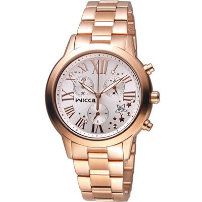 WICCA 璀璨時刻計時腕錶(BM1-261-11)-36mm