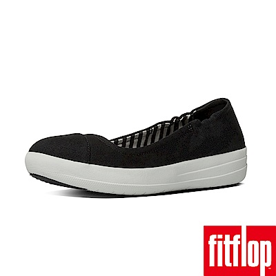 FitFlop F-SPORTY TM BALLERINA CANVAS黑
