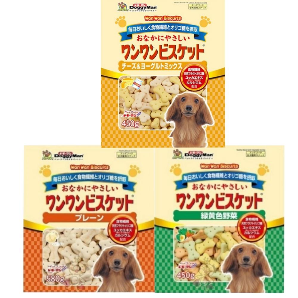 DoggyMan 寡糖添加消臭餅乾系列 四包組