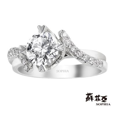 蘇菲亞 SOPHIA - 葛莉絲1.00克拉FVS2鑽石戒指