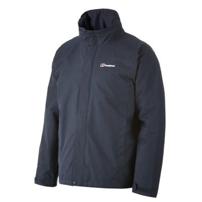 【Berghaus貝豪斯】男款AQ2兩件式防水刷毛外套H22M07-藍