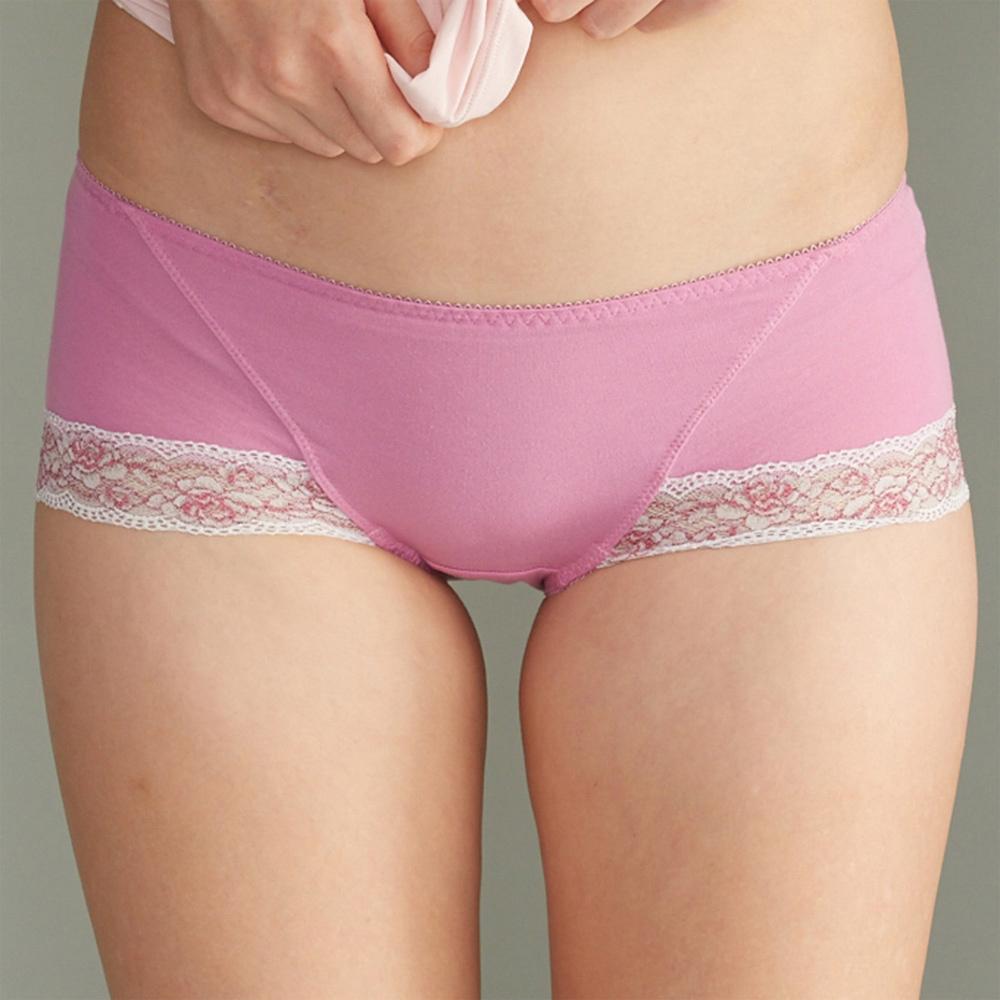 華歌爾  可愛花蔓M-LL中低腰平口內褲(閃亮紫)