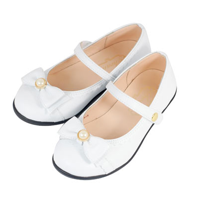 Swan天鵝童鞋-小蘿莉低跟公主鞋 3761-白