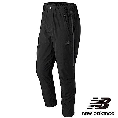 New Balance平織休閒長褲AMP73541BK男性黑色