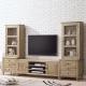 Bernice-諾伊9-5尺白橡全實木L型電視櫃