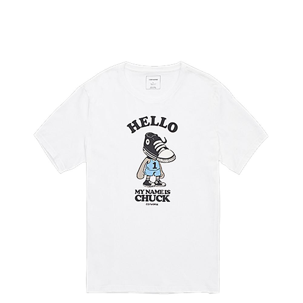 CONVERSE-男休閒短T恤10003766A01-白
