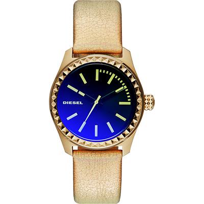 DIESEL Gorgeous 華麗派對時尚炫彩腕錶-金/38mm