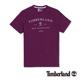Timberland 男款紫色胸前品牌印花短
