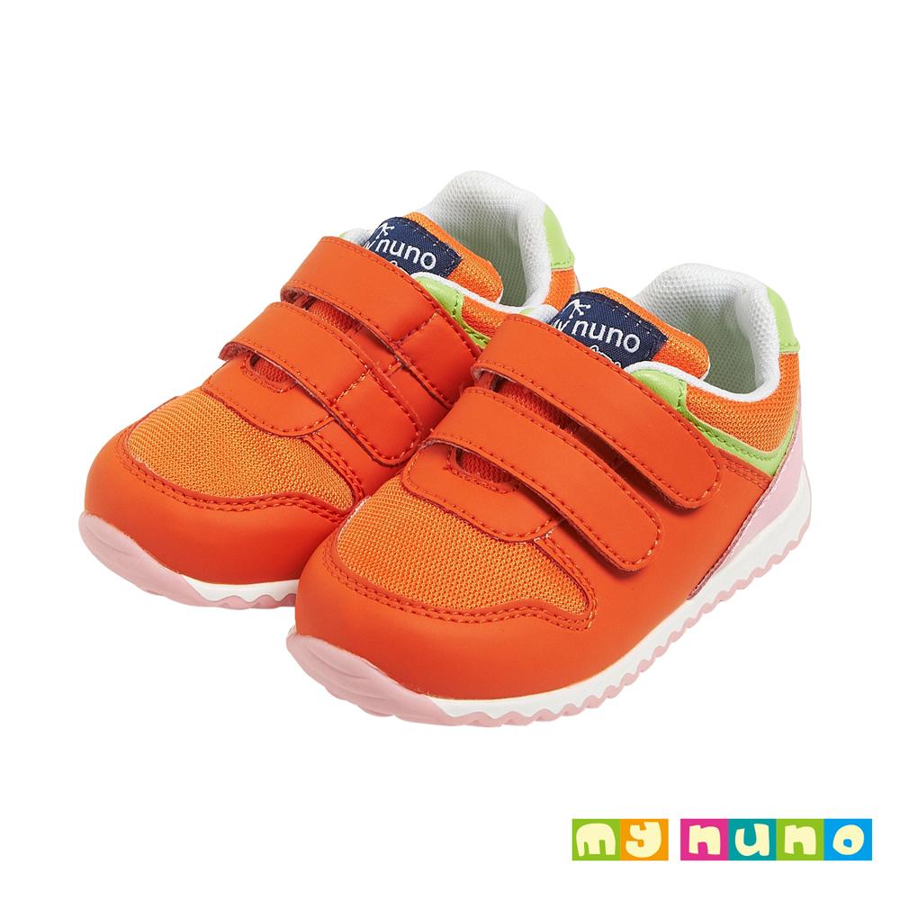 麗嬰房my nuno 咖啡紗系列香桔士寶寶學步鞋 桔色