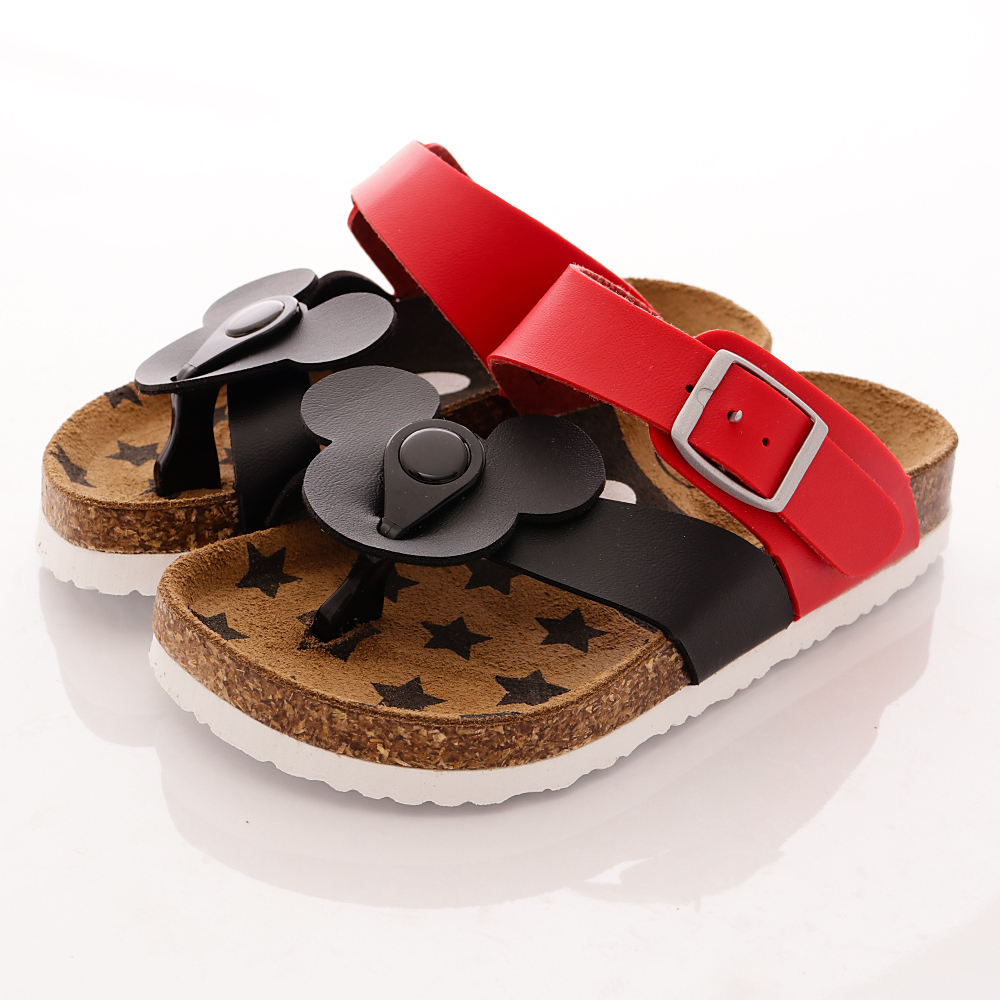 迪士尼童鞋-米奇夾腳涼鞋款-454770黑紅(中小童段)T1