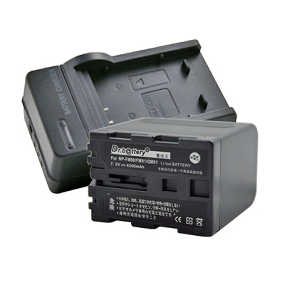 電池王 For SONY FM90/FM91/QM91 高容量鋰電池+充電器組