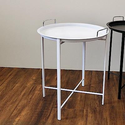 Amos-端盤鐵架茶几/咖啡桌(45x45x53)