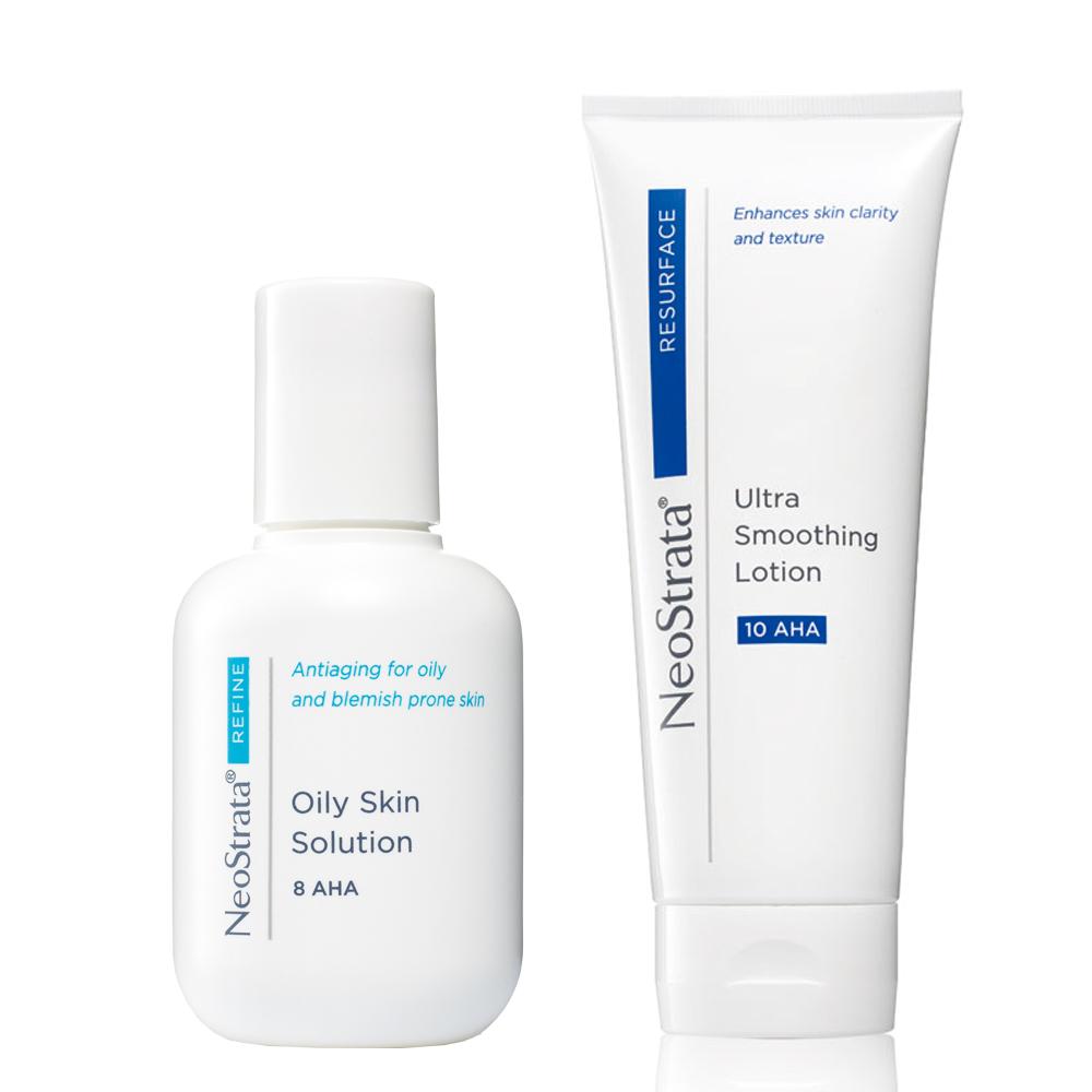 NeoStrata芯絲翠 果酸輕煥膚組(果酸油性膚質專用溶液+果酸活膚修護乳液)