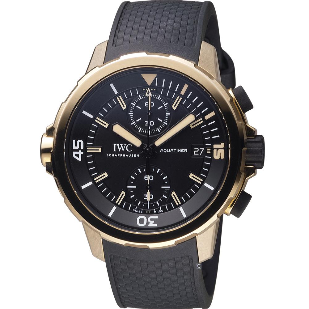 IWC萬國錶達爾文探險之旅計時青銅腕錶IW379503-黑x金44mm