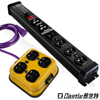 Castle蓋世特-獨家機身設計插座組-F4B-黃-S6B-黑