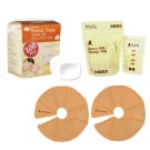 韓國perfection 乳房專用冷熱敷墊一對+初乳專用冷凍袋30入+拋棄式溢乳墊100入