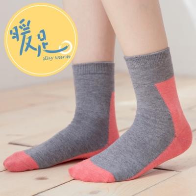 蒂巴蕾 暖足羊毛襪-色塊