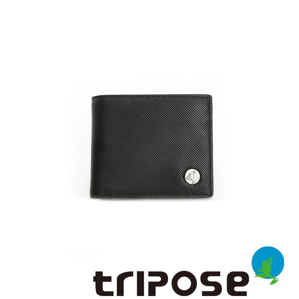 tripose  Yuppie系列零錢袋男短夾 - 深咖